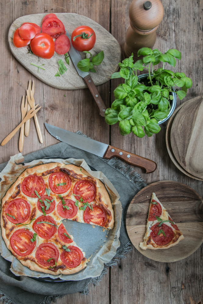Käsequiche Rezept mit Tomaten
