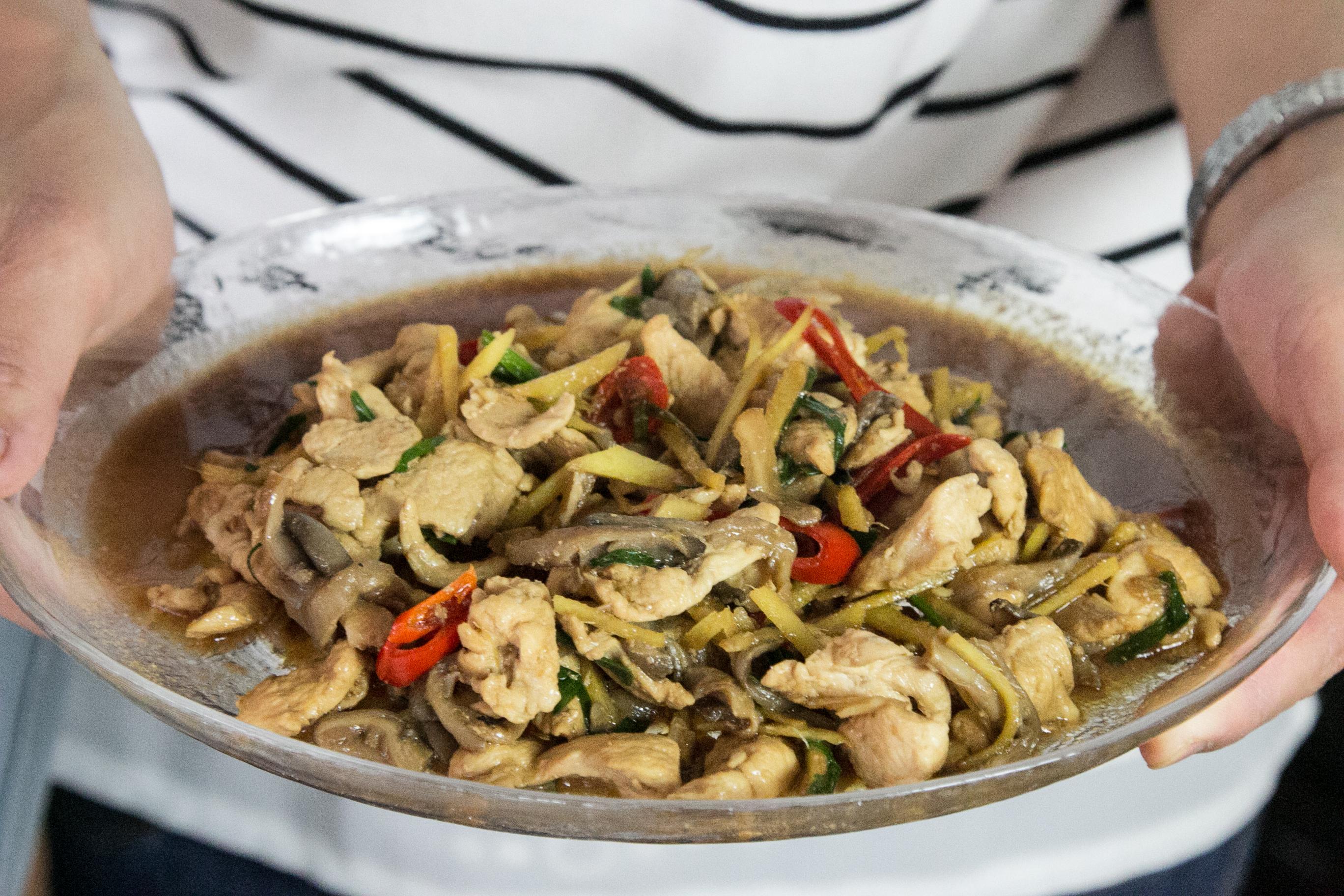 Gai Pad Khing, Thailändisch Rezept, einfache Alltagsrezepte
