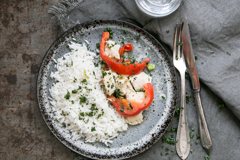 Pouletgeschnetzeltes, Peperoni, Alltagsrezept, Familienküche, einfache Rezepte