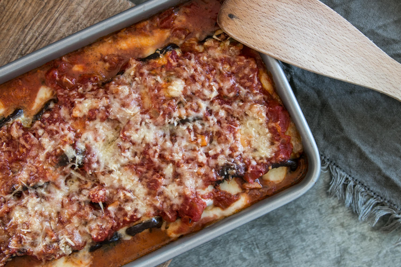 Involtini di Melanzane, Auberginenröllchen, vegetarisch, Rezept