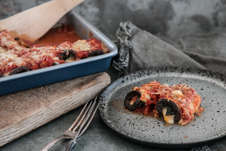Involtini di Melanzane, Auberginenröllchen, Rezept, vegetarisch