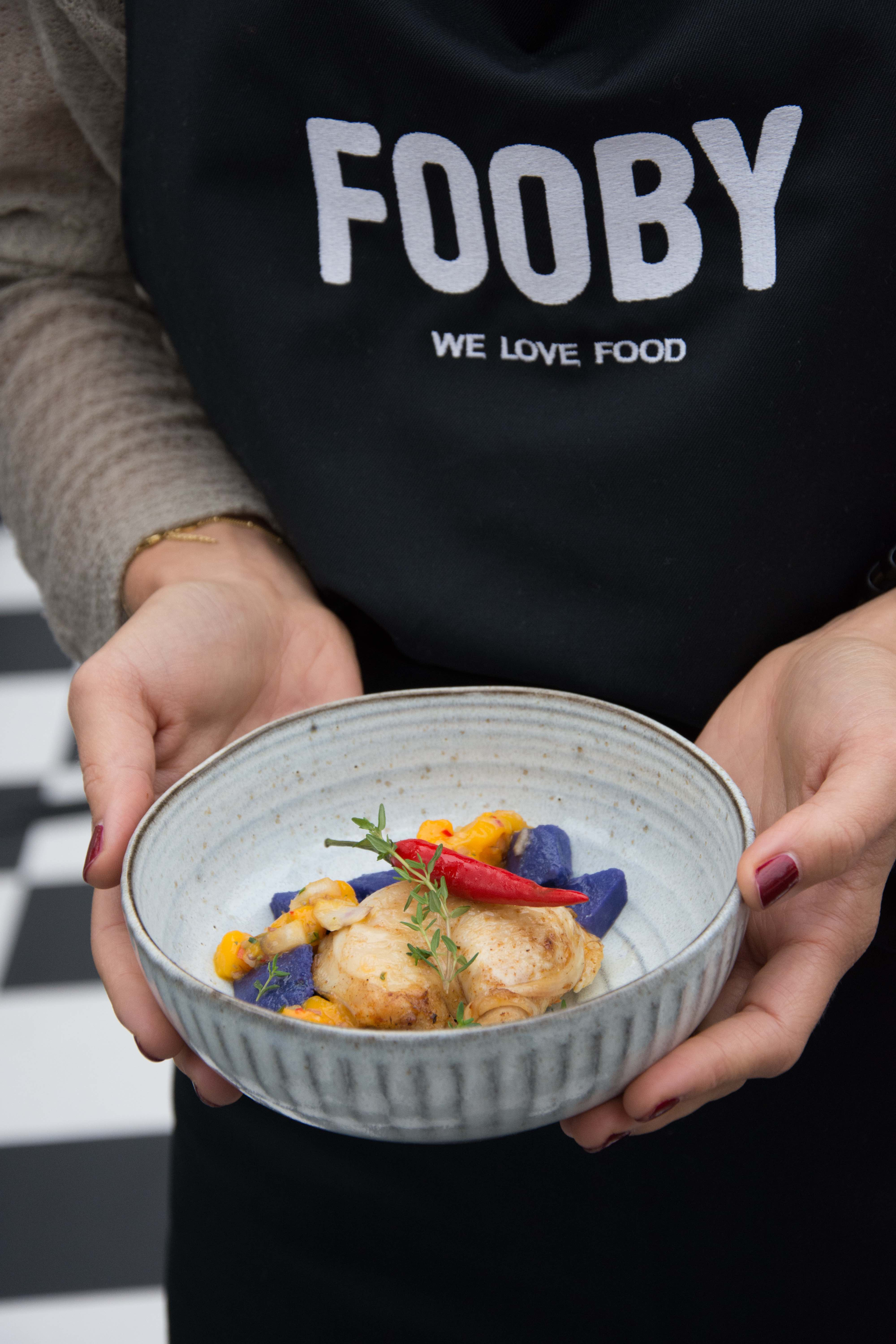 Fooby, Food Zurich, Streetfoodfestival, Grilliertes Poulet an Mango Chilli Dressing