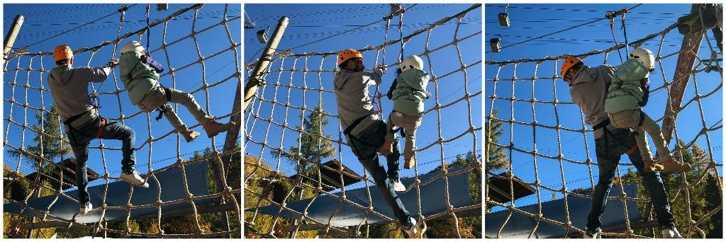 Klettergarten, Kletterpark, Freizeitaktivitäten Familie, Familienausflug