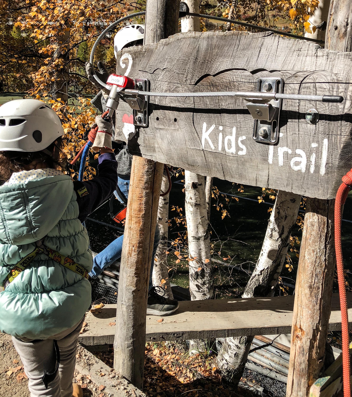 Kletterpark, Klettergarten, Kids Trail, Familienausflug, Freizeitaktivitäten Familie