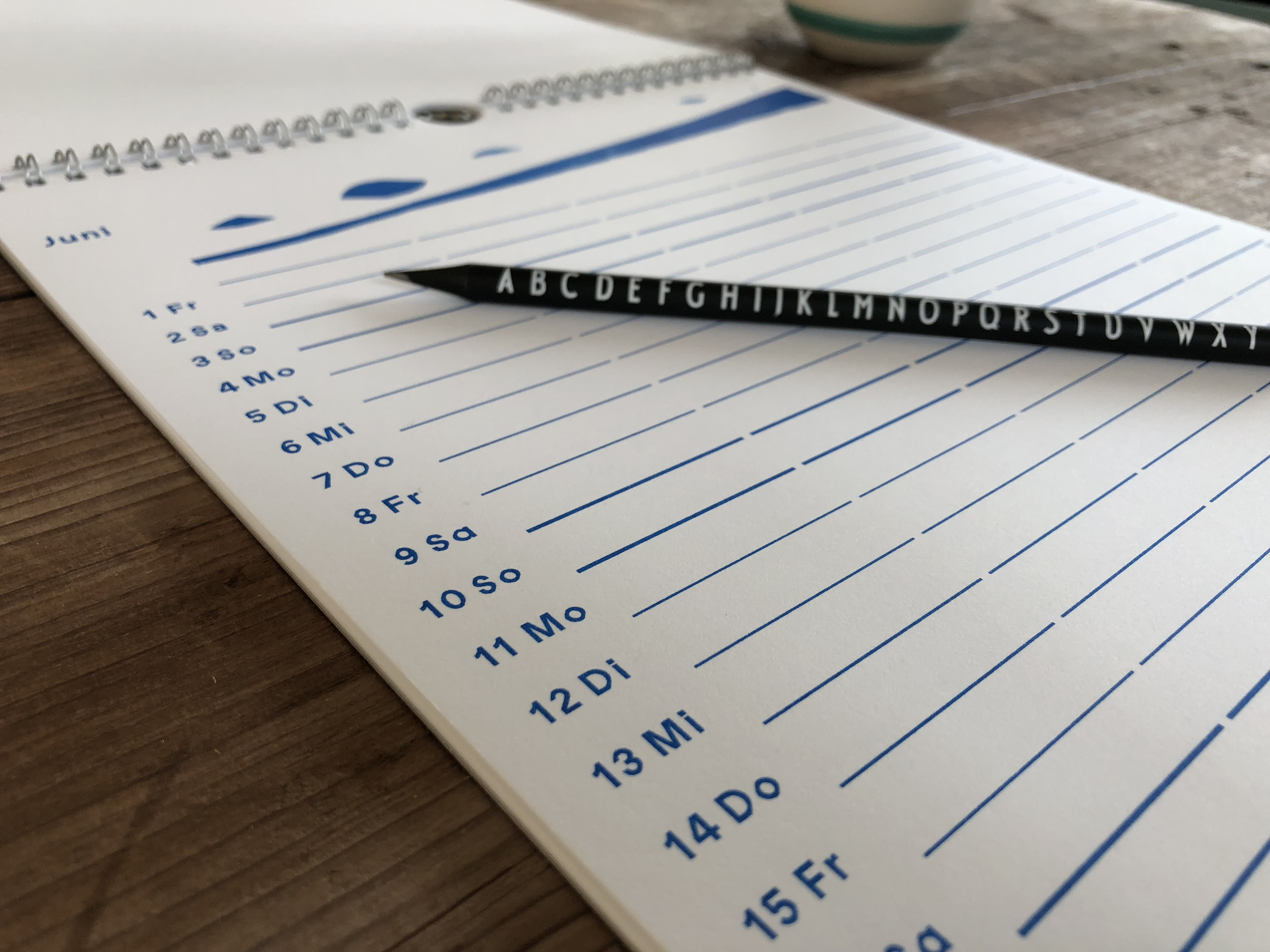 Jahresplaner, Organisation, Agenda