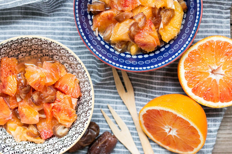 Orangen und Datten, leichte Dessertrezepte, Dessertidee
