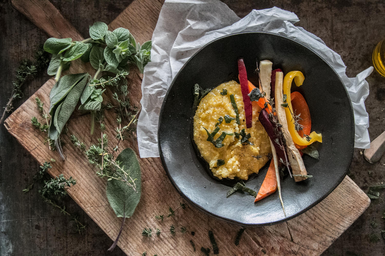 Bramata oder Polenta mit Ofengemüse Rezept