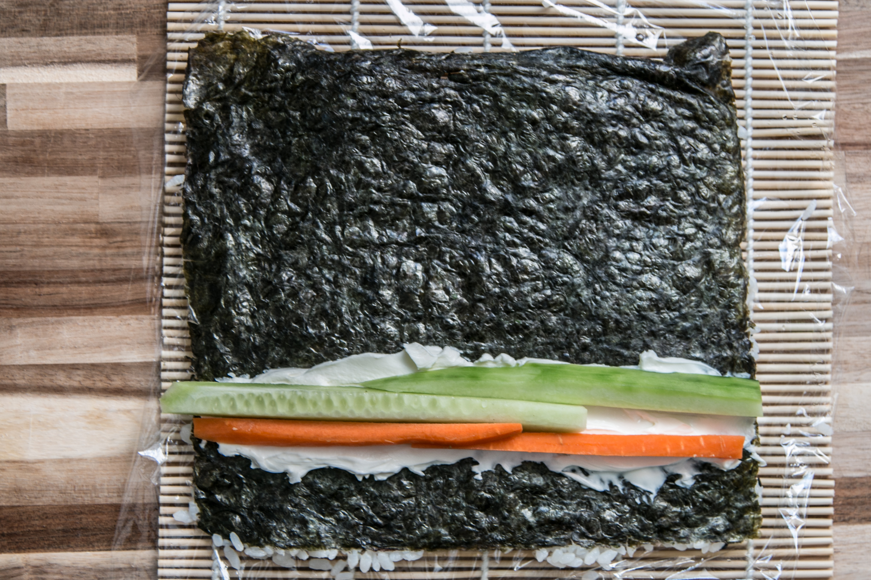 vegetarische Sushi Anleitung