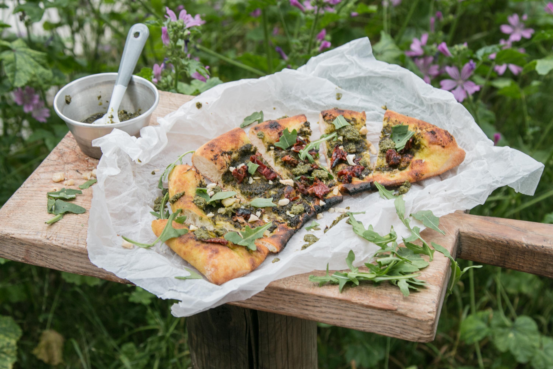 Pizza Pesto Foodstyling Foodfotogafie Tipps und Tricks