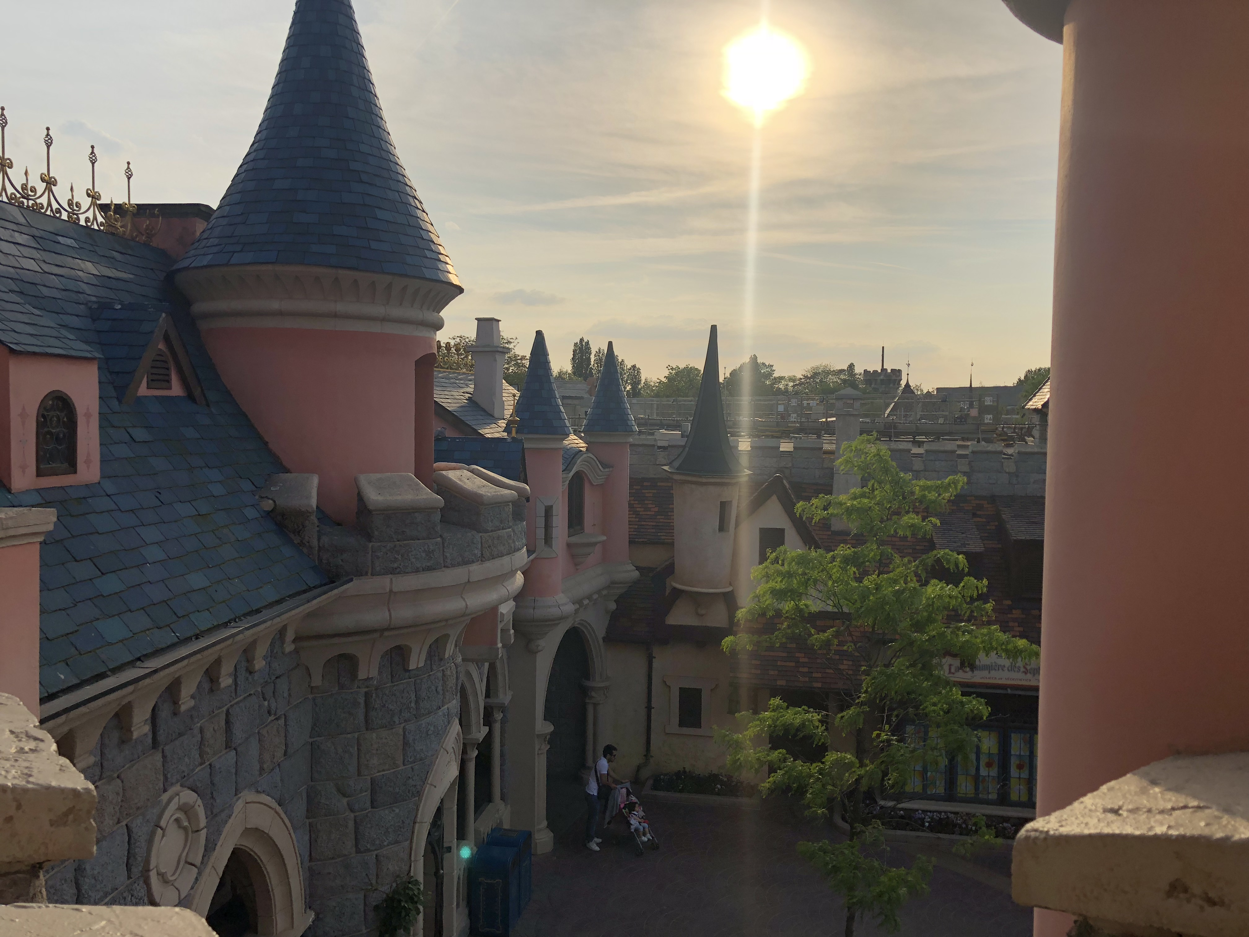 Disneyland Paris Sonnenuntergang