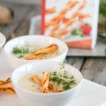 Suppe mit Kohlrabi und Ziegenfrischkäse Rezept
