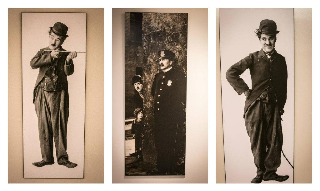 Charlie Chaplin Bilder aus dem Modern Times Hotel in Vevey
