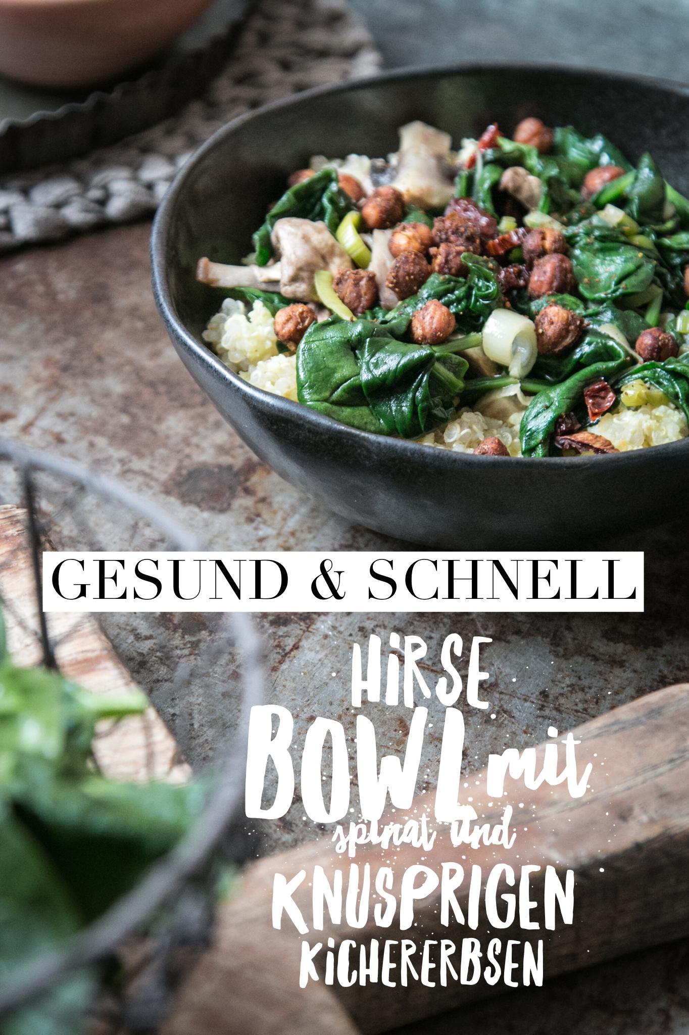 Schnelle und gesunde Hirse Bowl als Alltagsrezept von LouMalou.ch
