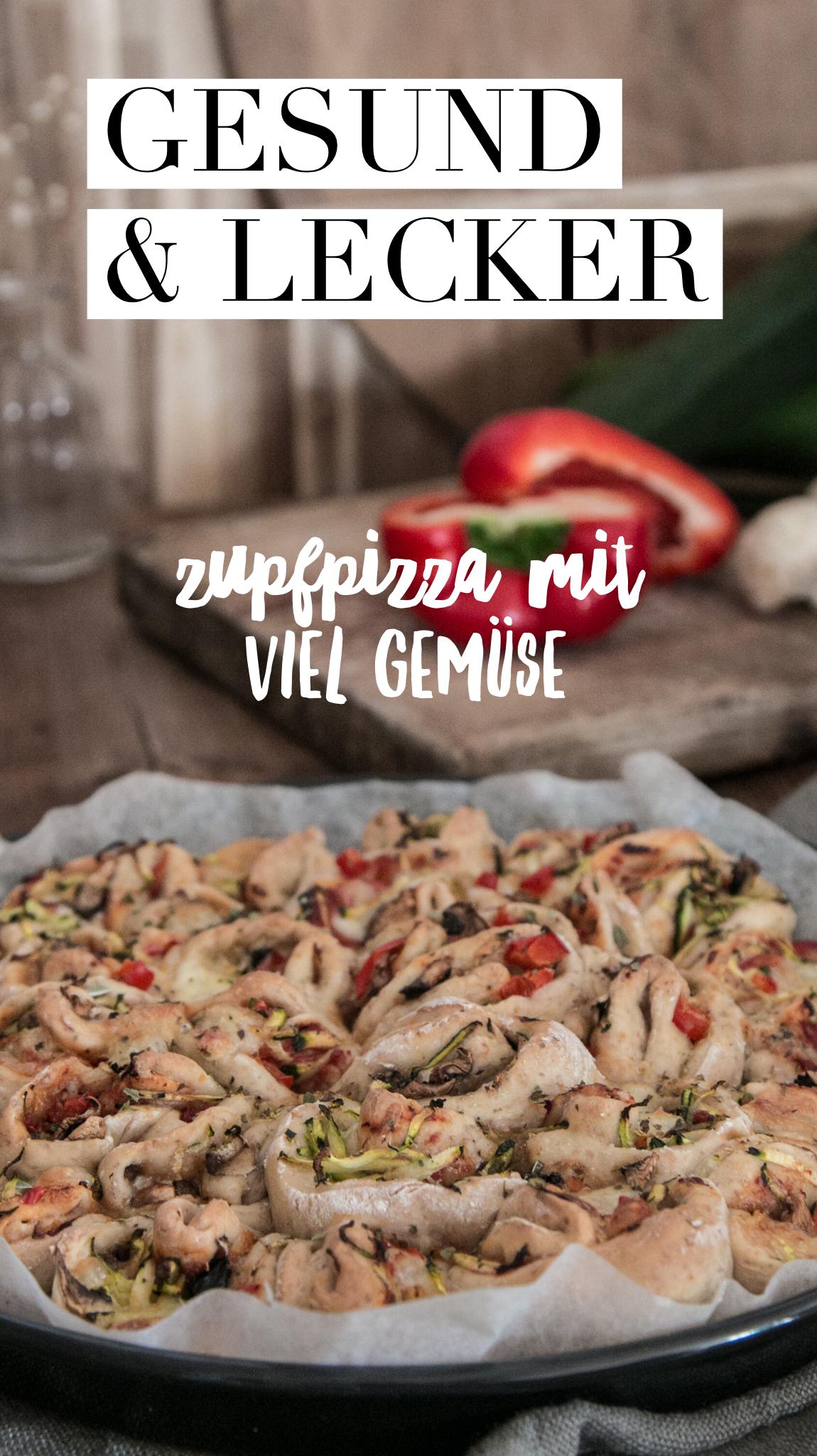 Zupfpizza mit Gemüse