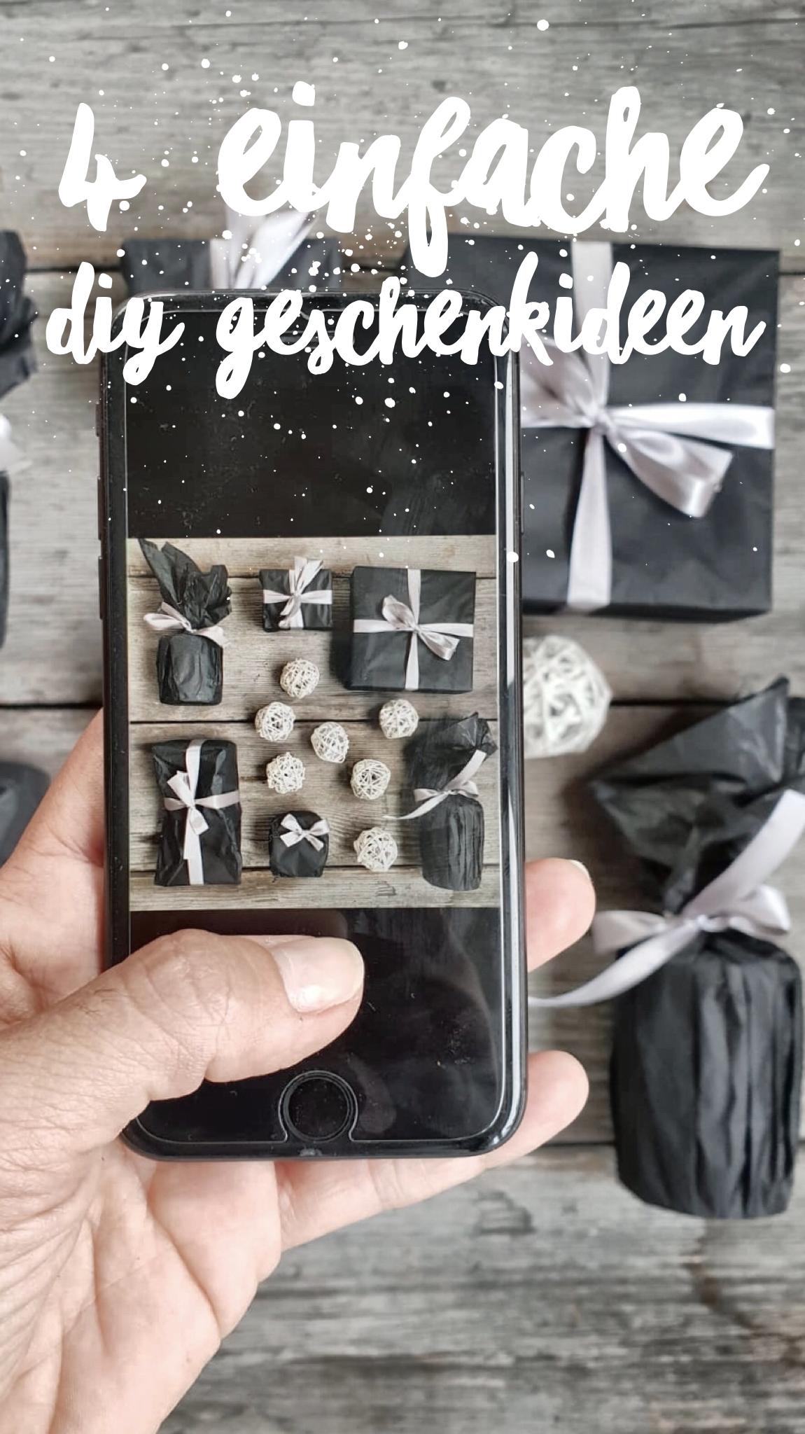 4 einfache DIY Geschenkideen