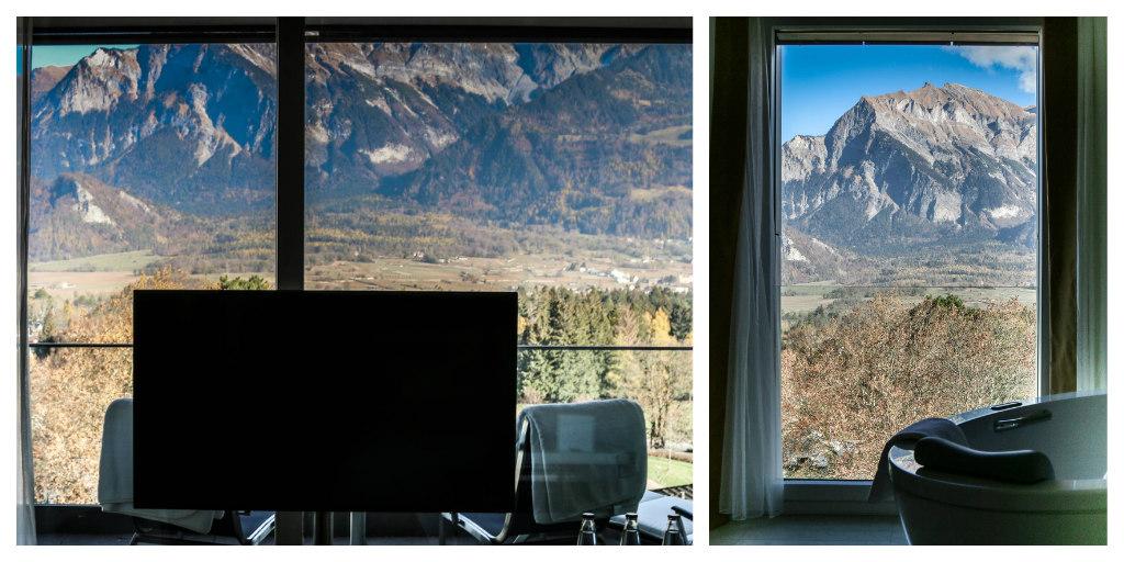 Aussicht Zimmer Spa Tower Bad Ragaz