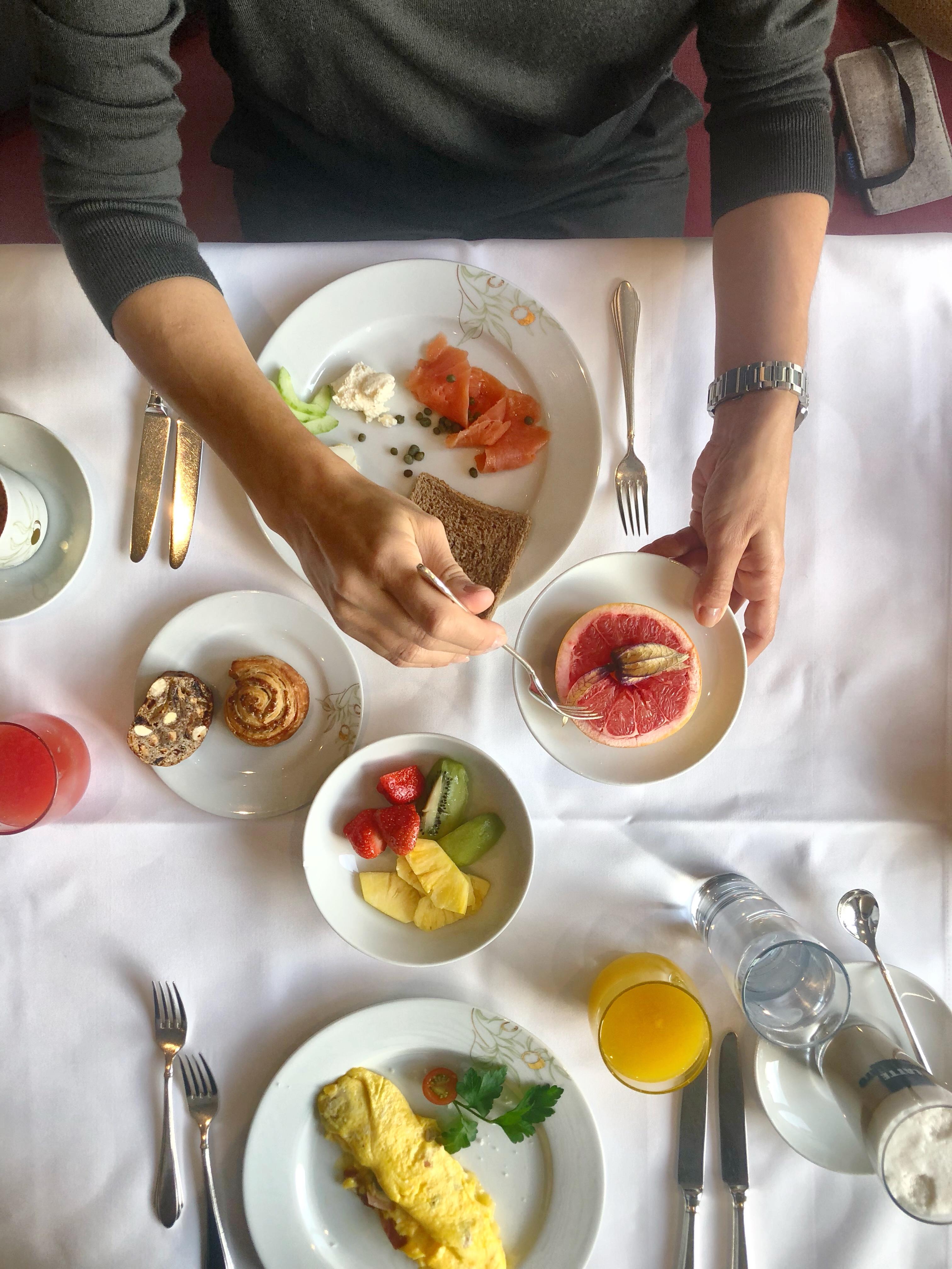 Frühstück im Olives d'Or in Bad Ragaz