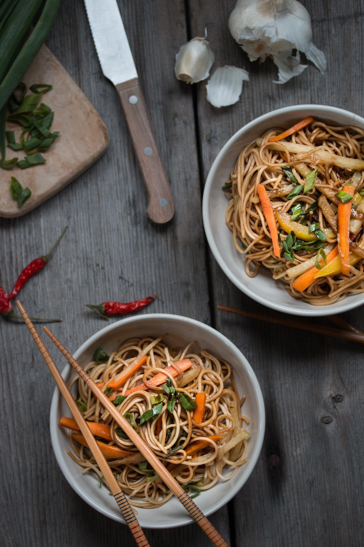 Teriyaki Nudeln Rezept vegetarisch