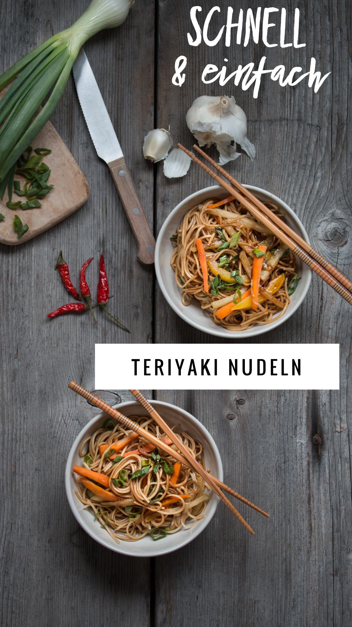 Teriyaki Nudeln Rezept für jeden Tag