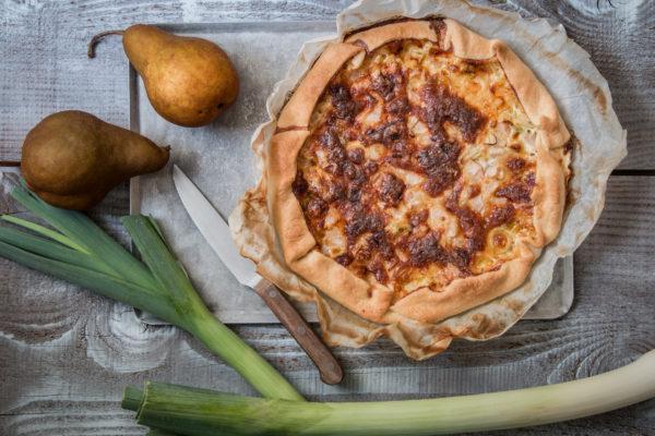Quiche mit Birnen und Lauch Rezept