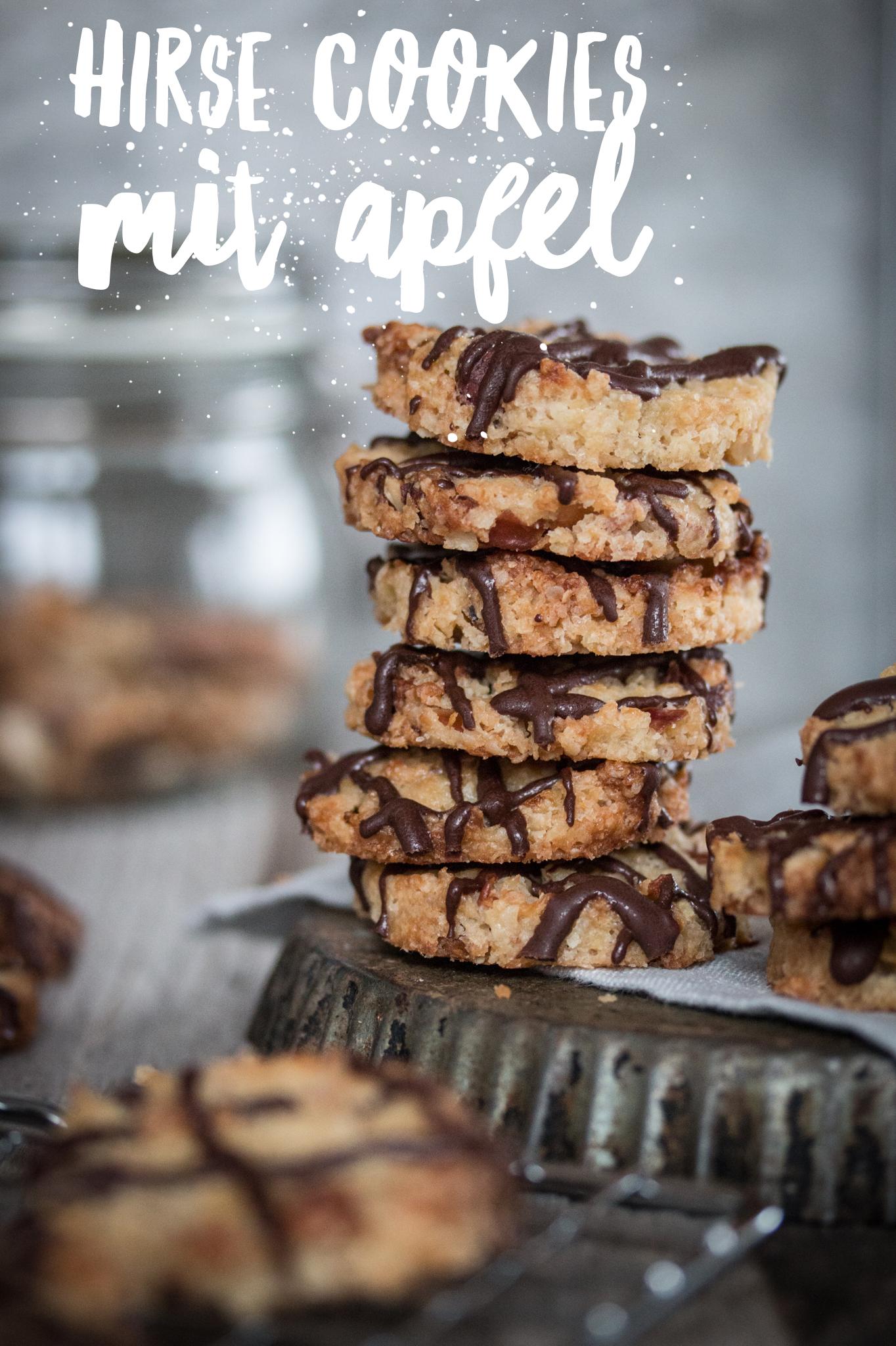 Hirse Cookies mit Apfel Rezept