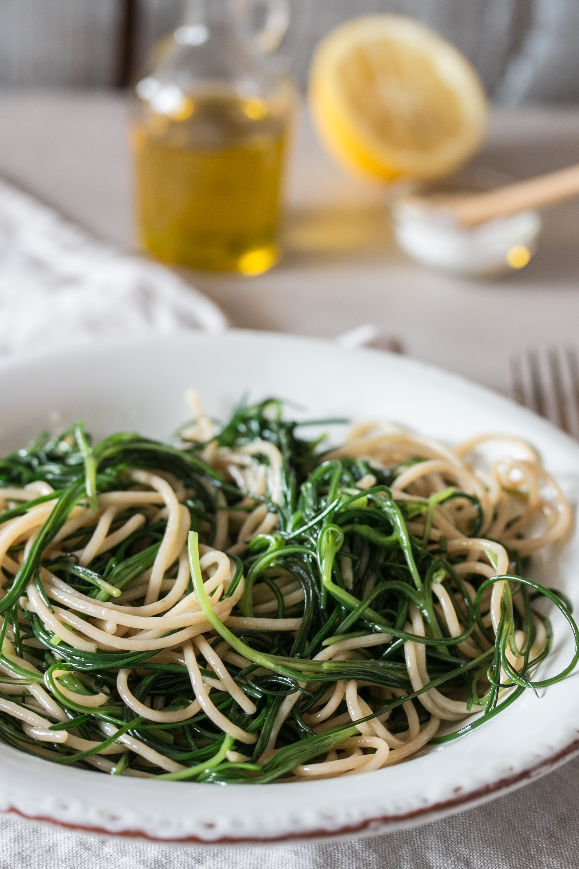 Spaghetti mit Mönchsbart Rezept