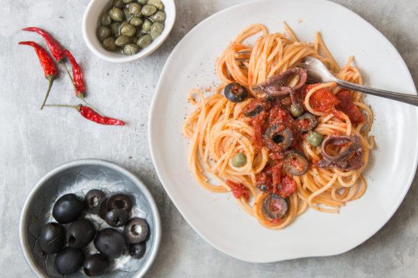 Spaghetti Puttanesca Rezept