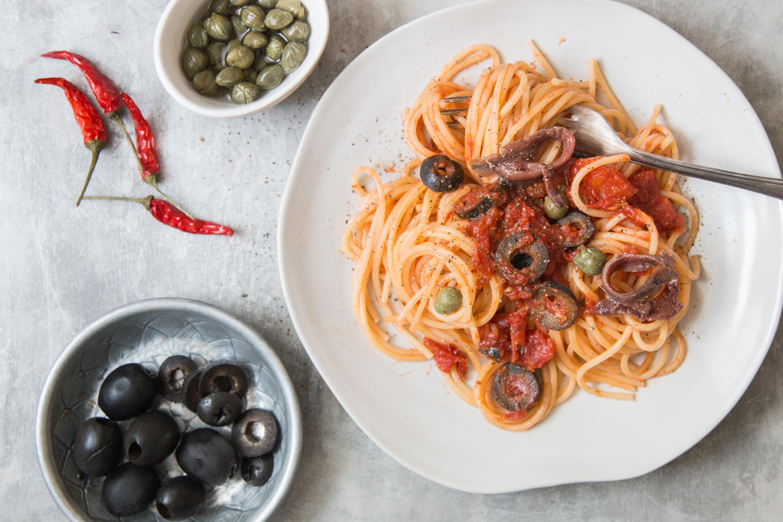 Spaghetti alla Puttanesca, der Klassiker aus Italien - Loumalou.ch