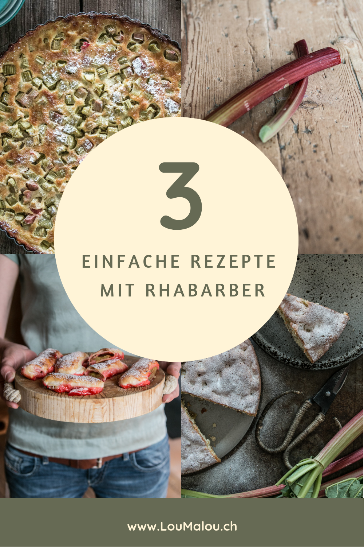 schnelle Rhabarber Rezepte für Kuchen Wähe und Blätterteig