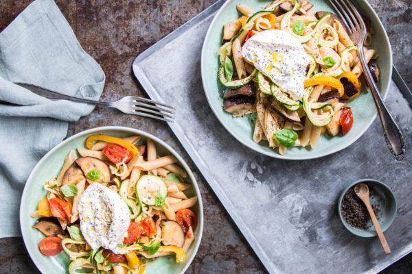 Vegetarische Pasta mit Gemüse Rezept