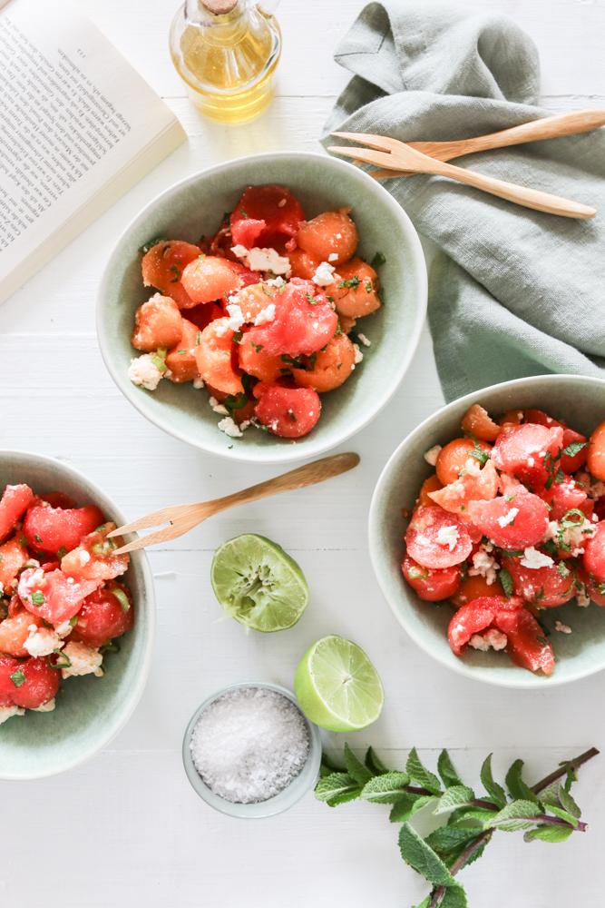 Wassermelonen Salat Rezept