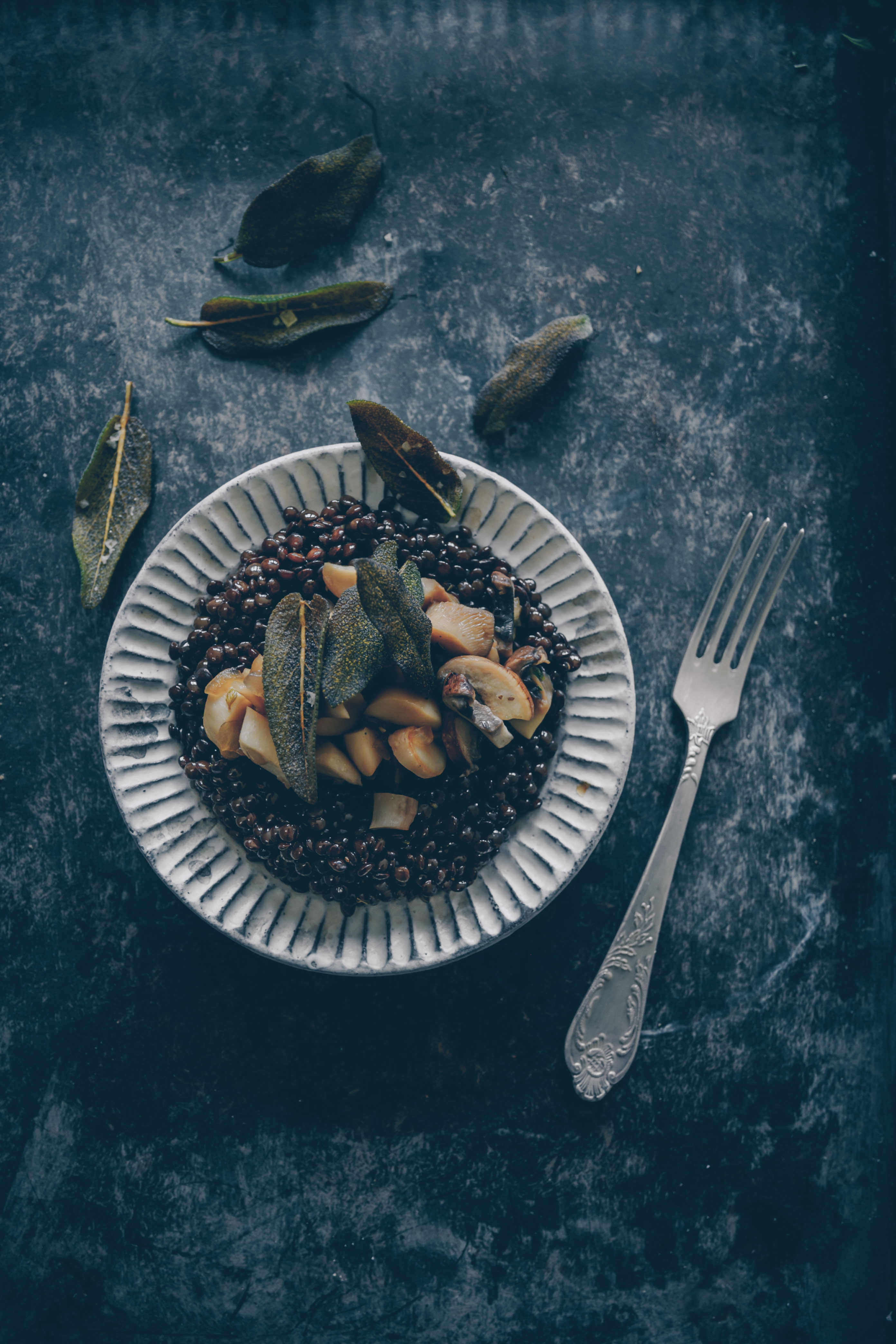 Linsen mit Pilzen und Salbei Rezept