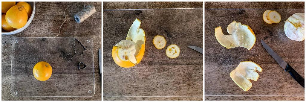 Girlande aus Orangen DIY