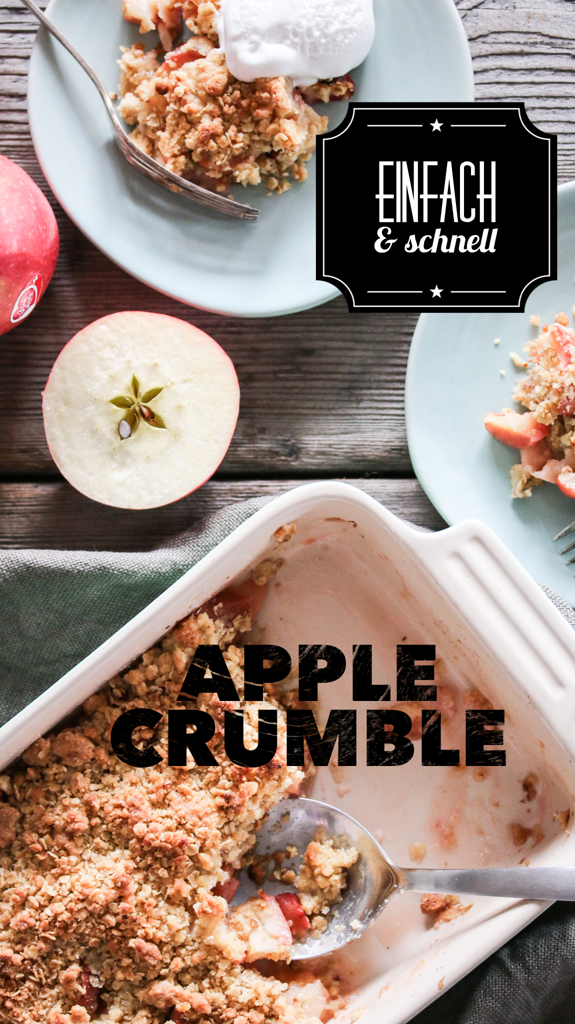 Apple Crumble Rezept