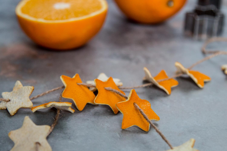 DIY Weihnachtsdeko Orangen Girlande