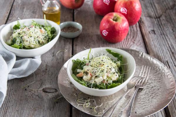 Gurken Kohlrabi Salat mit Apfel Pink Lady Rezept